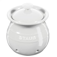 Staub Ceramics Garlic Keeper, White