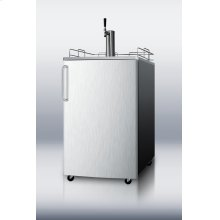 Commercially Approved Portable Beer Dispenser With Black Cabinet, Stainless Steel Door and Stainless Steel Top
