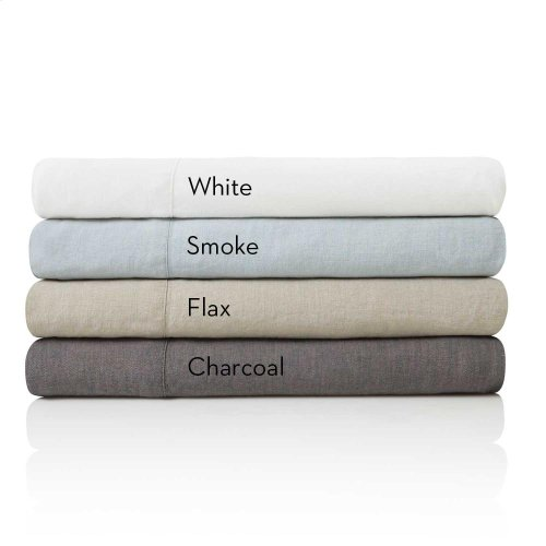 French Linen - Queen Pillowcase Charcoal