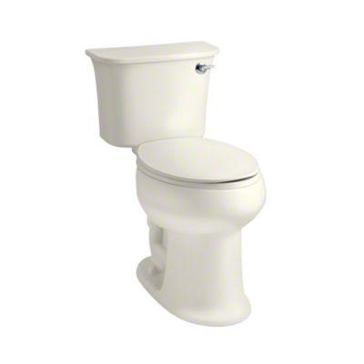 Stinson® Elongated Toilet with 1.28 GPF & Pro Force® Flushing Technology - KOHLER Biscuit