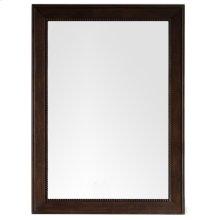 """Bristol 29"""" Rectangular Mirror, Burnished Mahogany"""