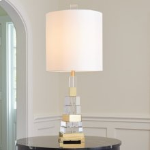 Twisted Crystal Lamp-Brass