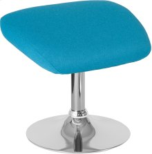 Egg Series Aqua Fabric Ottoman