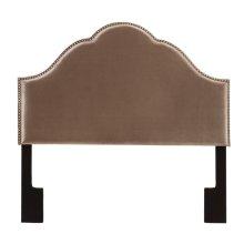 Glam Upholstered Headboard Velvet Chrome Queen