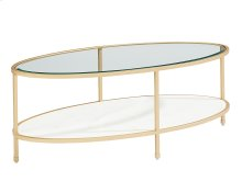 Stone/marble Ellipse Coffee Table