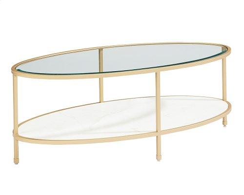 Stone/marble Ellipse Coffee Table