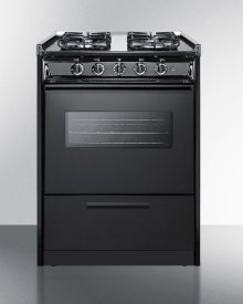 "24"" Wide Slide-in Gas Range In White With Sealed Burners, Oven Window, Light, and Electronic Ignition; Replaces Tnm616rw/ttm6107cswrt"