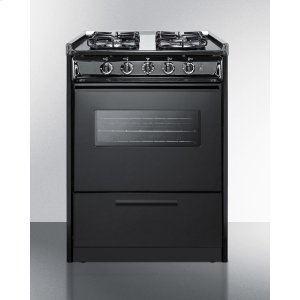 "Summit24"" Wide Slide-in Gas Range In White With Sealed Burners, Oven Window, Light, and Electronic Ignition; Replaces Tnm616rw/ttm6107cswrt"