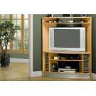 TV STAND - MAPLE CORNER WITH SILVER BASE Product Image