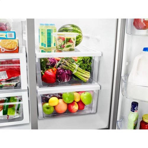 Whirlpool® 36-inch Wide Side-by-Side Refrigerator - 28 cu. ft. - White