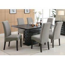 Stanton Contemporary Black Rectangular Dining Table
