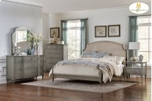 HOMELEGANCE 1717-1-9  Albright Queen Bed, Nightstand, Dresser, Mirror & Chest Group