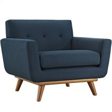 Engage Upholstered Fabric Armchair in Azure