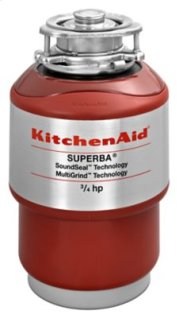 3/4-Horsepower Continuous Feed Food Waste Disposer - Red Product Image