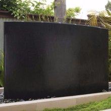 Curved Waterwall, Blue Gray Granite
