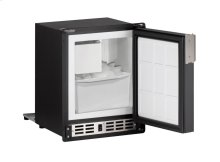"""Marine Series 15"""" Marine Crescent Ice Maker With Black Solid Finish and Field Reversible Door Swing"""