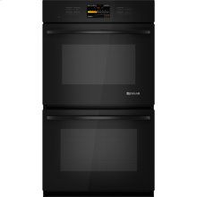 """Double Wall Oven with V2™ Vertical Dual-Fan Convection System, 30"""", Black Floating Glass w/Handle"""