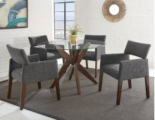 "Amalie Side Chair, Grey 25""x24""x33"""