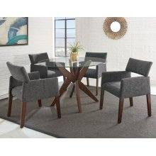 "Amalie Side Chair, Grey 25""x24""x33"""