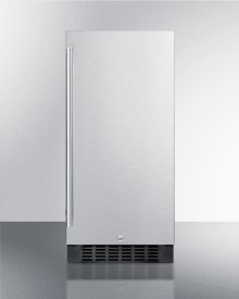 """15"""" Wide All-refrigerator for Built-in or Freestanding Use, With Reversible Stainless Steel Door and Lock"""