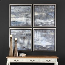 Shades Of Gray Hand Painted Canvases, S/4