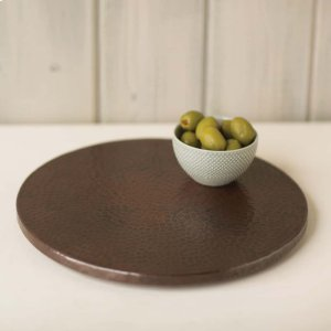 """12"""" Copper Lazy Susan Turntable Product Image"""