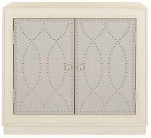 Yuna 2 Door Chest - Antique Beige / Nickel / Mirror