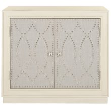 Yuna 2 Door Chest - Antique Beige / Nickel / Mirror