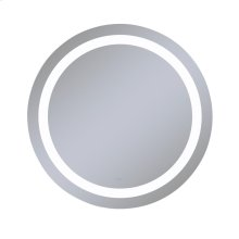 "Vitality 40"" Diameter X 1-3/4"" Depth Circle Lighted Mirror With Inset Light Pattern, 4000 Kelvin Temperature (cool Light), Dimmable and Defogger"