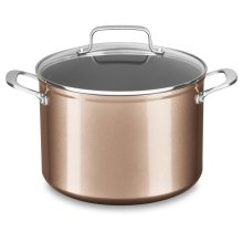 8 Quart Hard Anodized Non-Stick Stockpot with lid - Toffee Delight