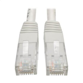Premium Cat5/5e/6 Gigabit Molded Patch Cable, 24 AWG, 550 MHz/1 Gbps (RJ45 M/M), White, 6 ft.