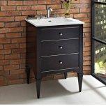 """FAIRMONT DESIGNSCharlottesville w/Nickel 24"""" Vanity - Vintage Black"""