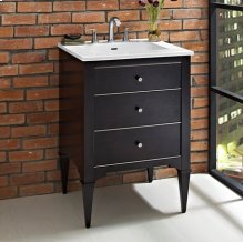 "Charlottesville w/Nickel 24"" Vanity - Vintage Black"
