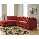 Benchcraft Maier Sectional with Left Side Facing Chaise in Sienna Microfiber [FBC-2349LFSEC-SEN-GG] Product Image