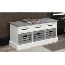 Traditional White and Grey Cabinet
