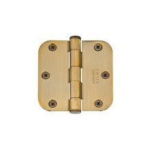 "3-1/2"" x 3-1/2"" 5/8"" Radius Corners Residential Plain Bearing, Solid Brass"