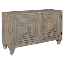 Bengal Manor Mango Wood 2 Stacked Pyramid Door Cabinet