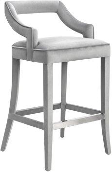 Tiffany Grey Velvet Counter Stool Product Image