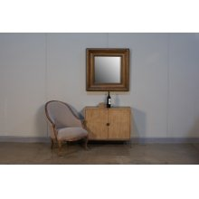 Churchill Mirror, Burnt Brown Oak