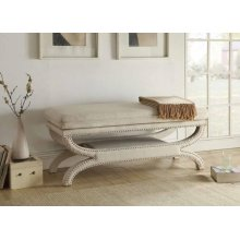 Light Grey Accent Bench