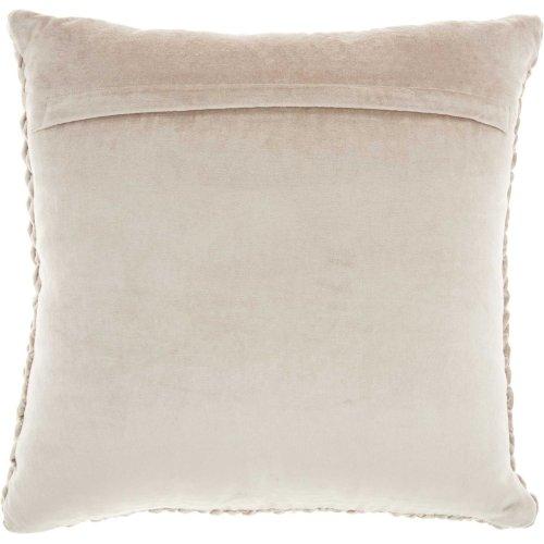 """Life Styles Sc001 Beige 18"""" X 18"""" Throw Pillows"""