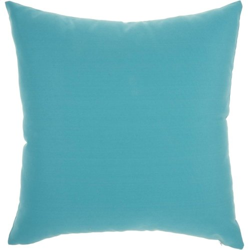 "Outdoor Pillows L0204 Turquoise 18"" X 18"" Throw Pillow"