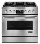 """Jenn-Air® Pro-Style® 36"""" Dual-Fuel Range with MultiMode® Convection - Pro Style Stainless Product Image"""