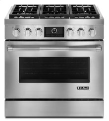 """Jenn-Air® Pro-Style® 36"""" Dual-Fuel Range with MultiMode® Convection - Pro Style Stainless"""