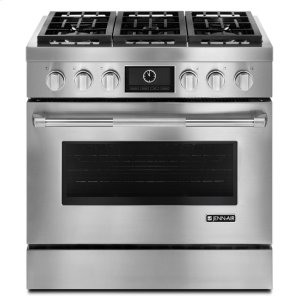 """Jenn-AirJenn-Air(R) Pro-Style(R) 36"""" Dual-Fuel Range with MultiMode(R) Convection - Pro Style Stainless"""