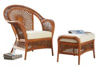 Coral Bay 2 PC Lounge Chair & Ottoman w/beige cushions Product Image