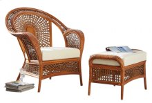 Coral Bay 2 PC Lounge Chair & Ottoman w/beige cushions