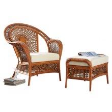 Coral Bay 2 PC Lounge Chair & Ottoman w/beige cushions