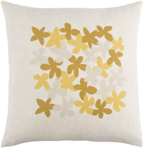 """Little Flower LE-002 22"""" x 22"""" Pillow Shell with Down Insert"""