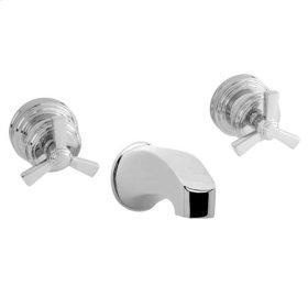 Gloss Black Wall Mount Tub Faucet